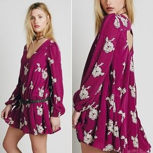 Free People Austin Dress in Berry Purple